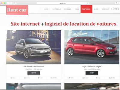 création site web location de voiture